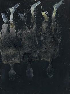 Georg Baselitz, Lieber Marcel Duchamp, das haben sie doch von Picasso gestohlen!, 2016 Oil on canvas, 161 ⅜ × 120 ⅛ inches (410 × 305 cm)© Georg Baselitz 2016. Photo: Jochen Littkemann, Berlin