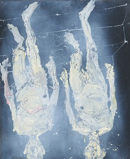 Georg Baselitz, Zweimal Treppe runter (Twice Down the Stairs), 2016 Oil on canvas, 122 × 99 ⅝ inches (310 × 253 cm)© Georg Baselitz 2016. Photo: Jochen Littkemann, Berlin