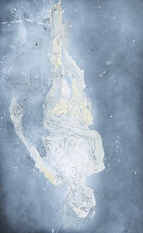 Georg Baselitz, Abwärts III, 2016 Oil on canvas, 118 ⅛ × 72 ¾ inches (300 × 184.9 cm)© Georg Baselitz 2016. Photo: Jochen Littkemann, Berlin