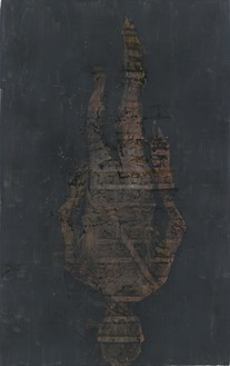 Georg Baselitz, La rivoluzione di dietro – J.B, 2015 Oil on canvas, 189 × 118 ⅛ inches (480 × 300 cm)© Georg Baselitz 2016. Photo: Jochen Littkemann, Berlin