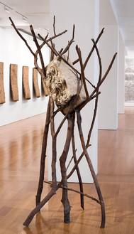 Giuseppe Penone, Foglie di pietra/Leaves of Stone, 2013 Bronze and found stone, 94 ½ × 51 3/16 × 35 7/16 inches (240 × 130 × 90 cm)© Archivo Penone