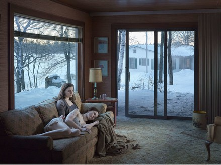 Gregory Crewdson, Mother and Daughter, 2014 Digital pigment print, Image size: 37 ½ × 50 inches (95.3 × 127 cm), edition of 3 + 2 APs© Gregory Crewdson