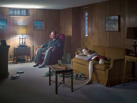 Gregory Crewdson, The Basement, 2014 Digital pigment print, Image size: 37 ½ × 50 inches (95.3 × 127 cm), edition of 3 + 2 APs© Gregory Crewdson