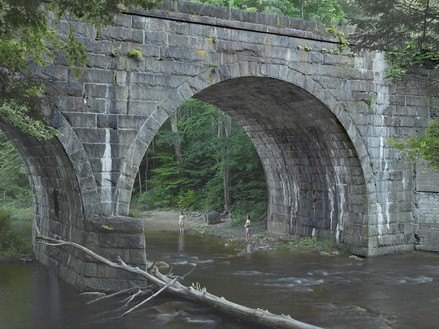 Gregory Crewdson, Beneath the Bridge, 2014 Digital pigment print, Image size: 37 ½ × 50 inches (95.3 × 127 cm), edition of 3 + 2 APs© Gregory Crewdson