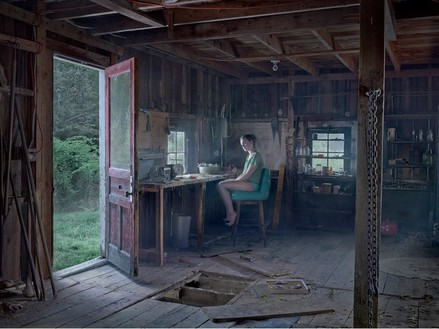 Gregory Crewdson, The Barn, 2013 Digital pigment print, Image size: 37 ½ × 50 inches (95.3 × 127 cm), edition of 3 + 2 APs© Gregory Crewdson