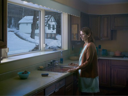 Gregory Crewdson, Woman at Sink, 2014 Digital pigment print, Image size: 37 ½ × 50 inches (95.3 × 127 cm), edition of 3 + 2 APs© Gregory Crewdson