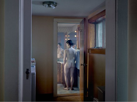 Gregory Crewdson, Woman in Bathroom, 2013 Digital pigment print, Image size: 37 ½ × 50 inches (95.3 × 127 cm), edition of 3 + 2 APs© Gregory Crewdson
