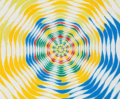 Harmony Korine, Scapp Willter Circle, 2015 Oil on canvas, 84 × 102 inches (213.4 × 259.1 cm)© Harmony Korine, photo by Rob McKeever