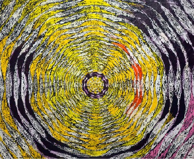 Harmony Korine, Sluggy Cotton Jr, 2015 Oil on canvas, 84 × 102 inches (213.4 × 259.1 cm)© Harmony Korine, photo by Davis Gooch