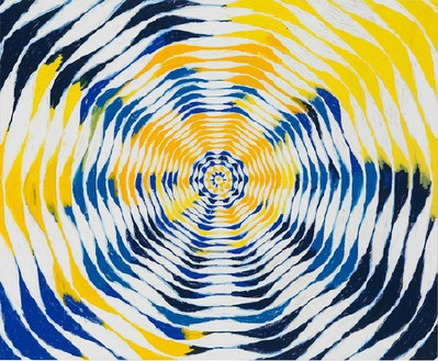Harmony Korine, Mmmm Circle, 2015 Oil on canvas, 84 × 102 inches (213.4 × 259.1 cm)© Harmony Korine, photo by Rob McKeever