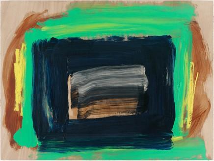 Howard Hodgkin, The Rains Came, 2014 Oil on wood, 28 ⅛ × 37 ½ inches (71.4 × 95.3 cm)© Howard Hodgkin. Photo: Prudence Cuming Associates Ltd