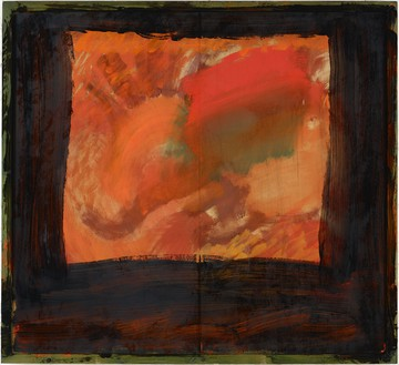 Howard Hodgkin, Blackmail, 2006–15 Oil on wood, 63 ½ × 69 ½ inches (161.3 × 176.5 cm)© Howard Hodgkin. Photo: Prudence Cuming Associates Ltd