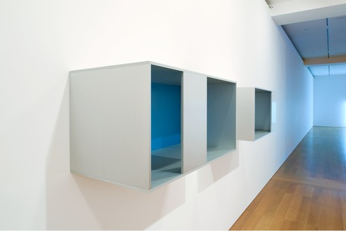 Installation view with Donald Judd, Untitled (88-28 A/B) (1984) Artwork © 2016 Judd Foundation/Artists Rights Society (ARS), New York