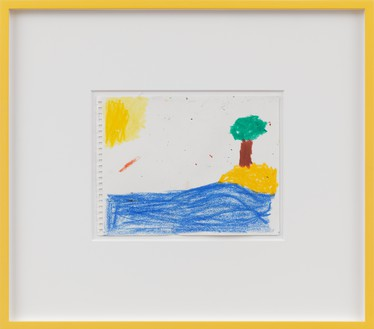 Joe Bradley, Untitled, 2016 Crayon on paper, 8 × 10 inches (20.3 × 25.4 cm)© Joe Bradley, courtesy of the artist and Gagosian, photo by Robert McKeever