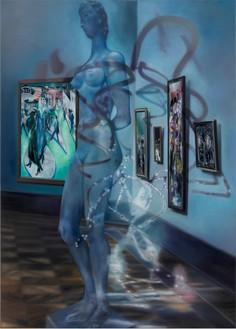 Karin Kneffel, Untitled, 2016 Oil on canvas, 70 ⅞ × 51 3/16 inches (180 × 130 cm)© Karin Kneffel, photo by Achim Kukulies