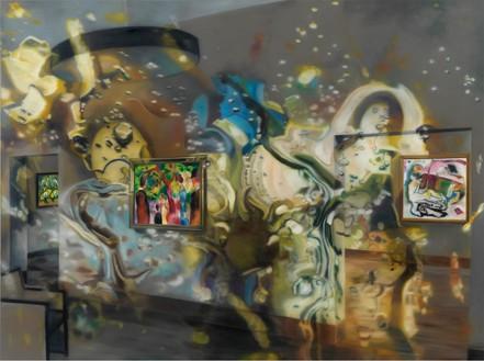Karin Kneffel, Untitled, 2016 Oil on canvas, 70 ⅞ × 94 ½ inches (180 × 240 cm)© Karin Kneffel, photo by Achim Kukulies