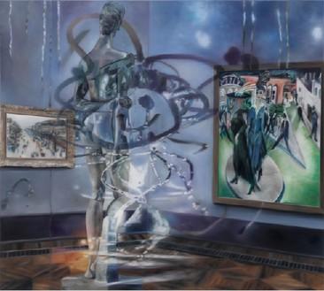 Karin Kneffel, Untitled, 2016 Oil on canvas, 70 ⅞ × 78 ¾ inches (180 × 200 cm)© Karin Kneffel, photo by Achim Kukulies