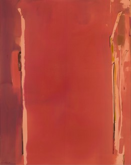 Helen Frankenthaler, Sentry, 1976 Acrylic on canvas, 114 × 90 inches (289.6 × 228.6 cm)© 2016 Helen Frankenthaler Foundation, Inc./Artists Rights Society (ARS), New York. Photo: Rob McKeever