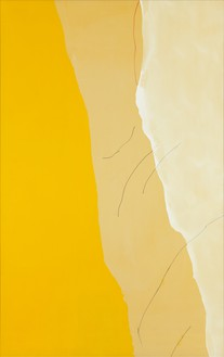 Helen Frankenthaler, Mornings, 1971 Acrylic and marker on canvas, 116 × 73 inches (294.6 × 185.4 cm)© 2016 Helen Frankenthaler Foundation, Inc./Artists Rights Society (ARS), New York. Photo: Rob McKeever