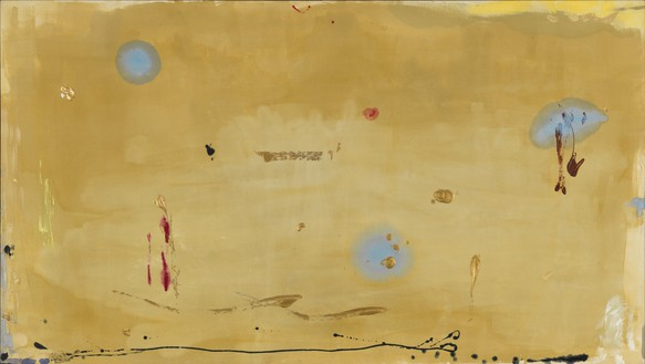 Helen Frankenthaler, Brother Angel, 1983 Acrylic on canvas, 66 ¼ × 117 inches (168.3 × 297.2 cm)© 2016 Helen Frankenthaler Foundation, Inc./Artists Rights Society (ARS), New York. Photo: Rob McKeever