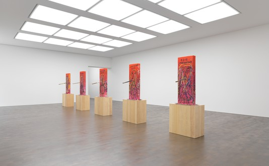 Installation view Artworks © Mark Grotjahn, photo by Mike Bruce