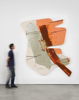 Michael Heizer, Wet Painting no. 7, 2016 Paint on canvas with silkscreen, 109 ¾ × 89 × 2 ½ inches (278.8 × 226.1 × 6.4 cm)© Michael Heizer. Photo: Jeff McLane