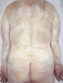 Jenny Saville, Trace, 1993–94 Oil on canvas, 84 × 72 inches (213.4 × 182.9 cm)© Jenny Saville