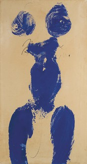 Yves Klein, Monique (ANT 59), 1960 Dry pigment and synthetic resin on paper mounted on canvas, 30 ⅛ × 15 ⅞ inches (76.5 × 40.3 cm)© Yves Klein/2016 Artists Rights Society (ARS), New York/ADAGP, Paris 2016
