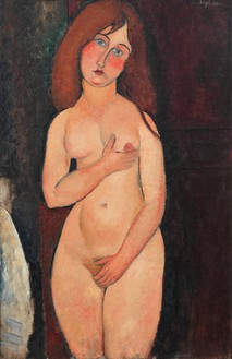 Amedeo Modigliani, Vénus, 1917 Oil on canvas 39 ⅛ × 25 ¼ inches (99.4 × 64.1 cm)Private CollectionPhoto: Rob McKeever