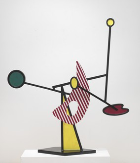 Roy Lichtenstein, Mobile III, 1990 Painted and patinated bronze, 57 × 52 × 13 inches (144.8 × 132.1 × 33 cm), edition of 6© Estate of Roy Lichtenstein. Photo: Rob McKeever