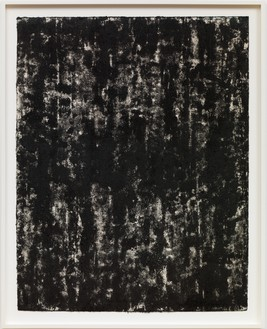 Richard Serra, Composite 1-1, 2016 Etching ink, paintstick, silica, and litho crayon on paper, 40 ½ × 31 ½ inches (102.9 × 80 cm)© Richard Serra. Photo: Robert McKeever