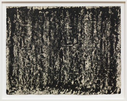 Richard Serra, Composite 1–9, 2016 Etching ink, paintstick, silica, and litho crayon on paper, 31 × 39 ¾ inches (78.7 × 101 cm)© Richard Serra. Photo: Robert McKeever