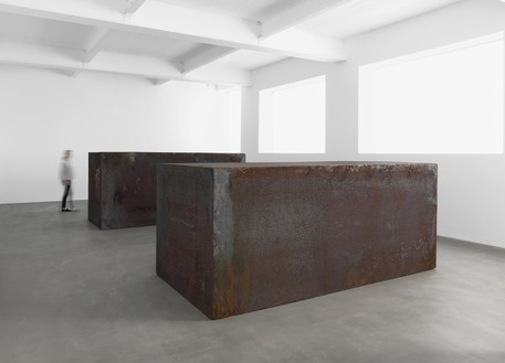 Installation view with Rotate (2016) Artwork © Richard Serra. Photo: Mike Bruce