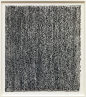 Richard Serra, Ramble 4-16, 2015 Litho crayon and pastel powder on paper, 35 × 30 ¾ inches (88.9 × 78.1 cm)© Richard Serra/Artists Rights Society (ARS), New York. Photo: Rob McKeever