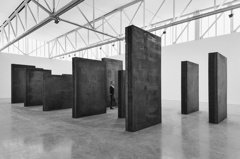 Installation view with Every Which Way (2015) © Richard Serra. Photo: Cristiano Mascaro