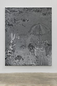Rudolf Stingel, Untitled (Bemelmans), 2016 Oil on canvas, 95 × 76 inches (241.3 × 193 cm)© Rudolf Stingel. Courtesy the artist