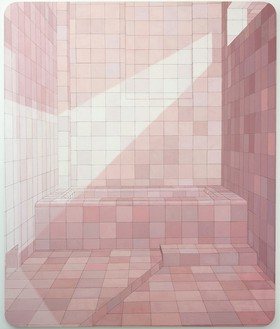 Adriana Varejão, A diva, 2004 Oil on canvas, 104 ⅜ × 86 ⅝ inches (265 × 220 cm)© Adriana Varejão. Photo: Vicente de Mello