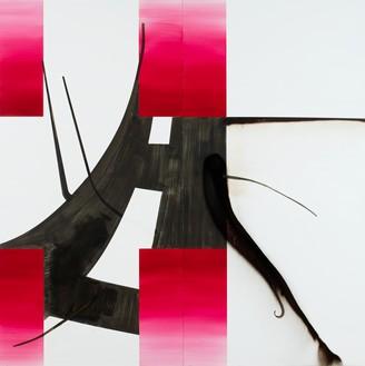Albert Oehlen, Untitled (Baum 84), 2016 Oil on Dibond, 98 ½ × 98 ½ inches (250 × 250 cm)© Albert Oehlen. Photo: Stefan Rohner
