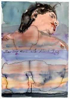 Anselm Kiefer, aller Tage Abend, aller Abende Tag (The Evening of All Days, the Day of All Evenings), 2013 Watercolor on paper, 20 ⅛ × 13 ¾ inches (51 × 35 cm)© Anselm Kiefer. Photo: Georges Poncet