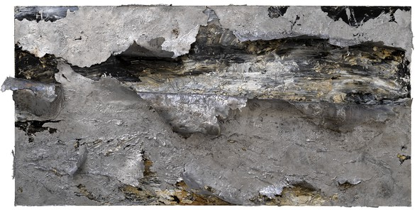 Anselm Kiefer, Des Meeres und der Liebe Wellen (The Waves of Sea and Love), 2017 Oil, emulsion, acrylic, and lead on canvas, 74 ⅞ × 149 ⅝ × 17 inches (190 × 380 × 43 cm)© Anselm Kiefer. Photo: Georges Poncet