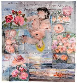 Anselm Kiefer, Les extases féminines (The Feminine Ecstasies), 2013 Watercolor on paper, 65 ¾ × 60 ⅝ inches (167 × 154 cm)© Anselm Kiefer. Photo: Georges Poncet