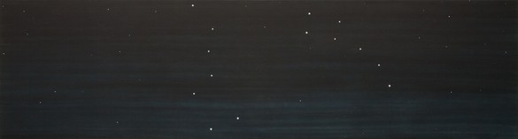 Ed Ruscha, The Dippers, 1982 Oil on canvas, 32 × 120 inches (81.3 × 304.8 cm)© Ed Ruscha