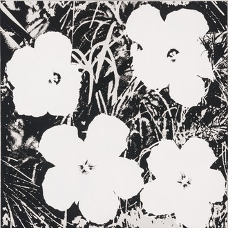 Andy Warhol, Flowers, 1978 Acrylic and silkscreen ink on canvas, 22 × 22 inches (55.9 × 55.9 cm)© 2017 The Andy Warhol Foundation for the Visual Arts, Inc./Licensed by Artists Rights Society (ARS), New York
