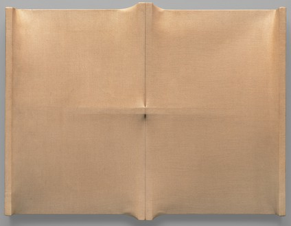 Enrico Castellani, Superficie, 1963 Stretched canvas, 25 × 31 ½ × 3 ½ inches (63.5 × 80 × 8.9 cm)Photo: Ben Blackwell