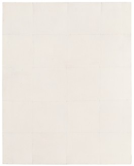 Piero Manzoni, Achrome, 1959 Kaolin on canvas stitched into squares, 39 ⅜ × 31 ½ inches (100 × 80 cm)Photo: Ben Blackwell