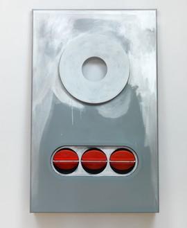 Blair Thurman, Color Me Gone!, 2017 Acrylic on canvas on wood, 70 ½ × 44 × 9 ½ inches (179.1 × 111.8 × 24.1 cm)© Blair Thurman. Photo: Rob McKeever