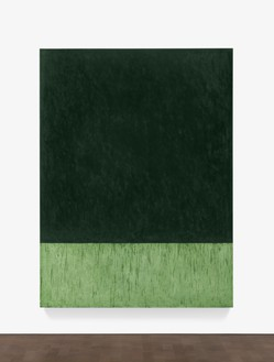 Brice Marden, Holbein, 2016–17 Oil on linen, 96 ⅛ × 72 inches (244.2 × 182.9 cm)© Brice Marden/Artists Rights Society (ARS), New York, and DACS, London 2017
