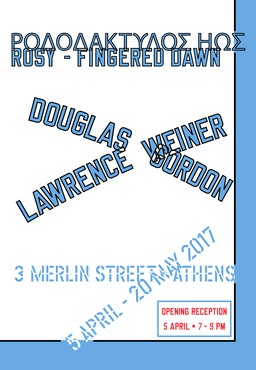 Douglas Gordon | Lawrence Weiner: Rosy-Fingered Dawn, Merlin Street, Athens