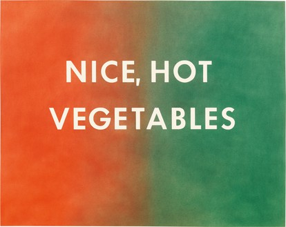 Ed Ruscha, Nice Hot Vegetables, 1976 Pastel on paper, 22 ¾ × 28 ¾ inches (57.8 × 73 cm)© Ed Ruscha