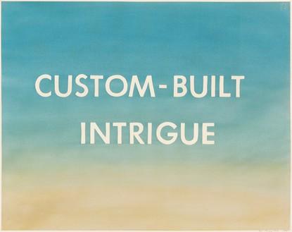 Ed Ruscha, Custom-Built Intrigue, 1981 Pastel on paper, 23 × 29 inches (58.4 × 73.7 cm)© Ed Ruscha